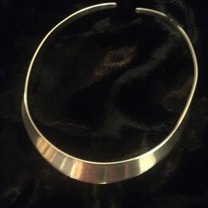 Silver choker necklace